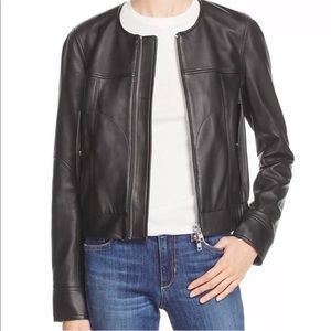 THEORY WOMENS NWT ONORELLE LEATHER MOTO JACKET S